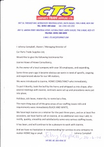 CTS HR Advice Testimonial